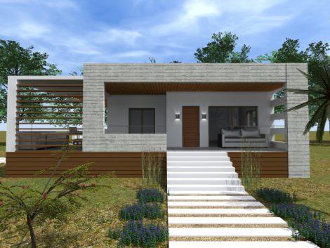 Contemporary single storey house in Lagadas
